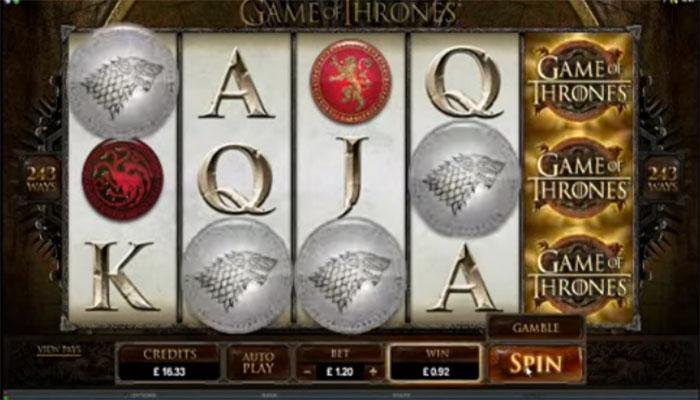 Game of thrones netin kolikkopelit
