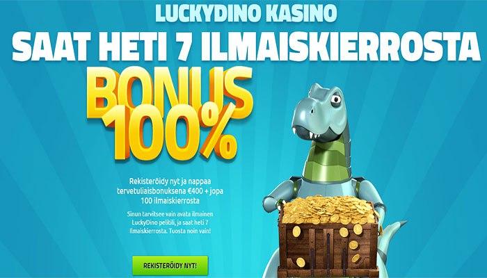 LuckyDino ilmaiskierrosbonukset